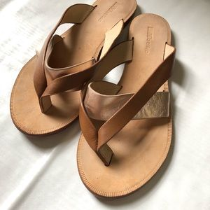 Anthropologie Sandals with a Rose Gold accent